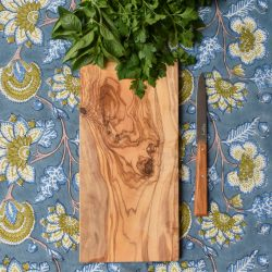 Oblong Olive Wood Chopping Board