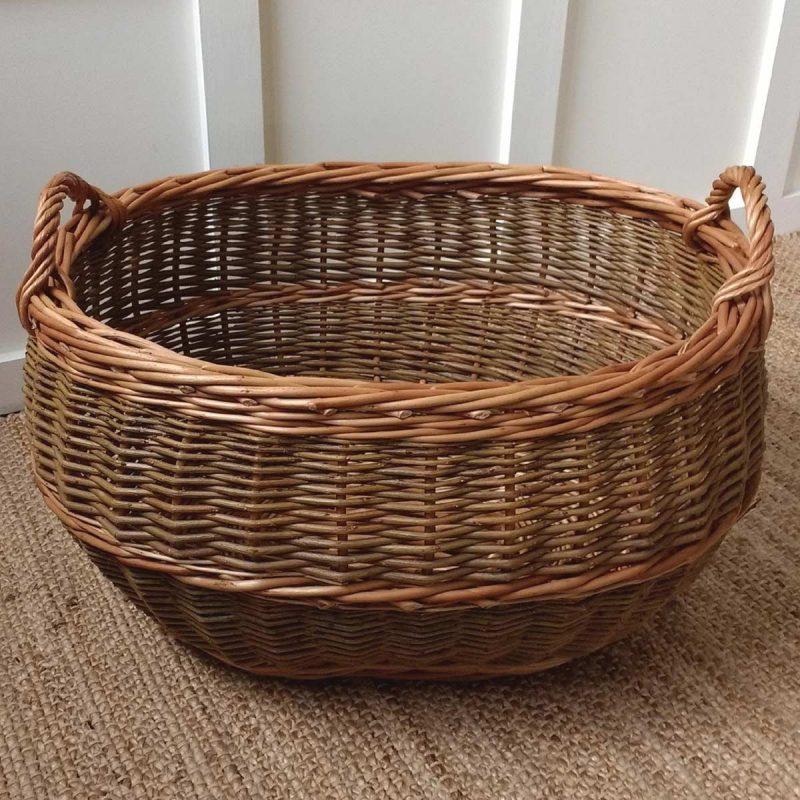 Large Oval Log Basket