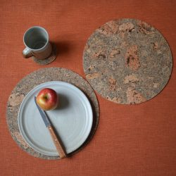 Rustic Cork Round Table Mat
