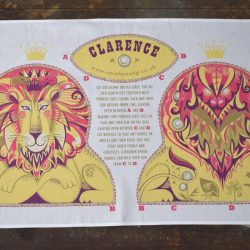 Printed Cotton Teatowel - Clarence the Lion