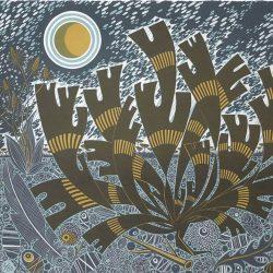 Angie Lewin - Saltmarsh Storm II, Screenprint