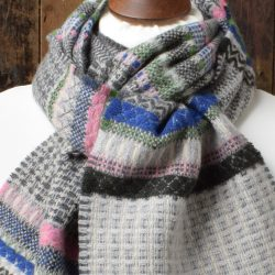 Meadow Grey Lambswool Scarf by Wallace and Sewell