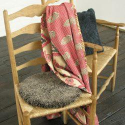 Circular Sheepskin Chair Pads - Cappuccino