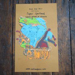 Screen printed Paper Garland - Jungle Animal