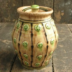 Slipware Jar, Earth 4 sprig by Paul Young