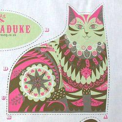 Printed Cotton Teatowel - Marmaduke The Cat