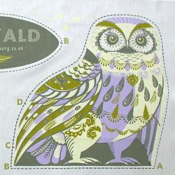Printed Cotton Teatowel - Oswald The Owl