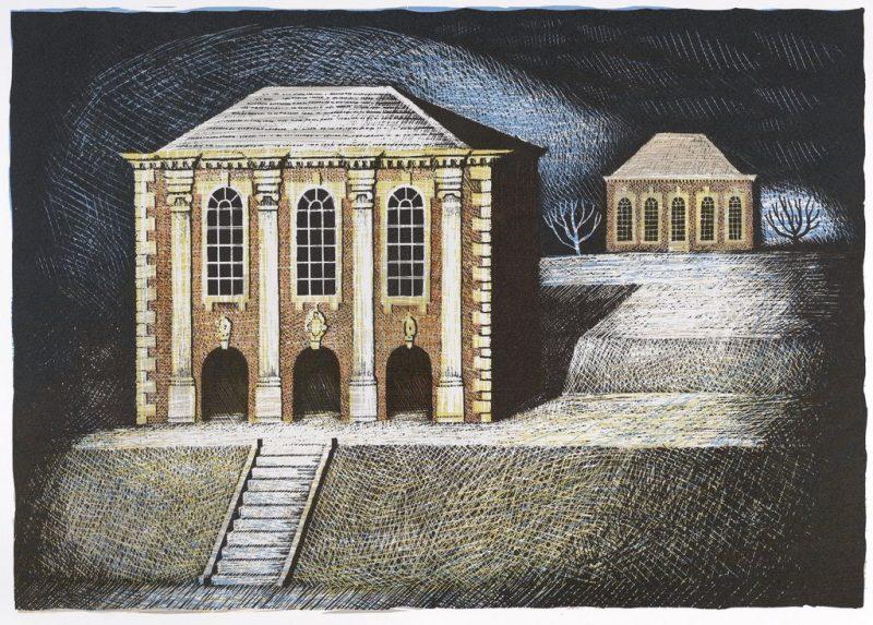 THE LIBRARY AT STEVENSTONE, UNFRAMED PRINT BY ED KLUZ