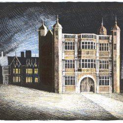 TIXALL, GATEHOUSE UNFRAMED PRINT BY ED KLUZ