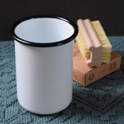 Enamelled Toothbrush Pot