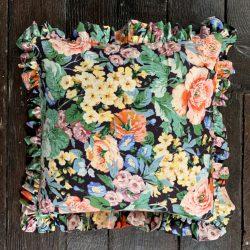 Vintage Chintz Frill Cushion
