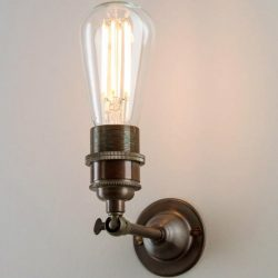 Industrial Wall Light Antique Brass