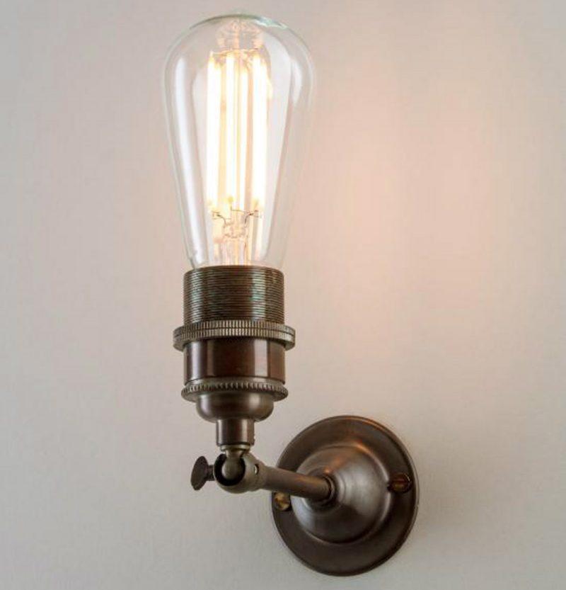Industrial Wall Light Antique Brass