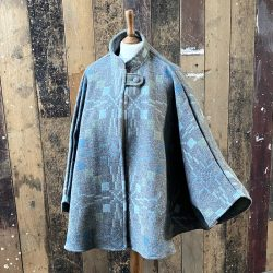 Welsh Wool Cape Blue Grey
