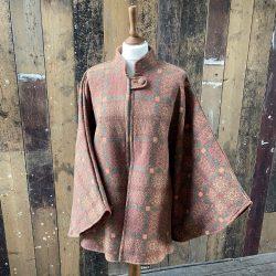 Welsh Wool Cape Peach Brown