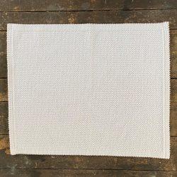 Heavy Cotton Bathmat - White Jacquard