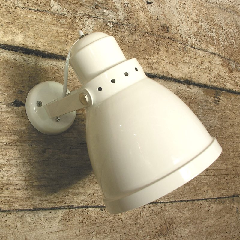 Large Lathe Lamp White