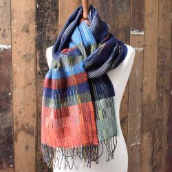 Otti Navy Wool Wrap  by Wallace and Sewell