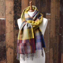 Otti Yellow Wool Wrap by Wallace and Sewell