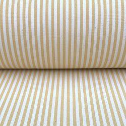 Ticking Stripe Alpha Custard