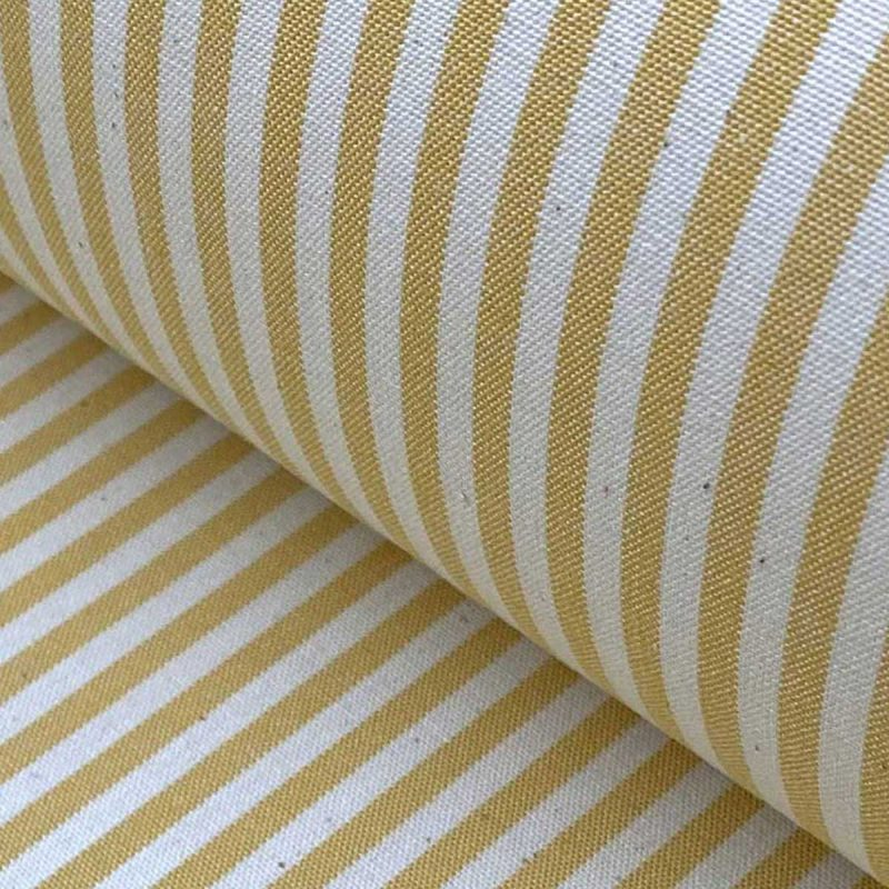 Alpha Stripe Custard Yellow