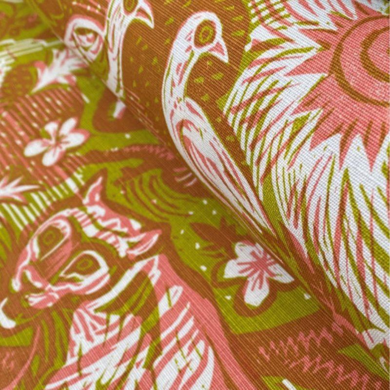 Mark Hearld Tyger Tyger Chartreuse Rose-diagonal