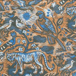 Mark hearld tyger tyger biscuit cobalt