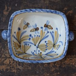 Andrew McGarva Bees Large Square Stoneware Baker - AMGL1