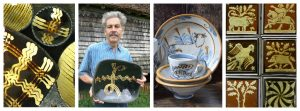 Andrew McGarva Ceramicist Collage tinsmiths