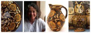 Carole Glover Ceramicist Collage Tinsmiths