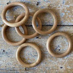 Oak Curtain Rings