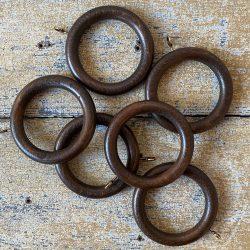 Walnut Curtain Rings