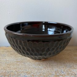 Robyn Cove Black Incised Breakfast Bowl