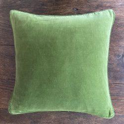 Velvet Cushion - Fern Green