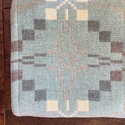 Vintage Star Welsh Blanket - Seagreen