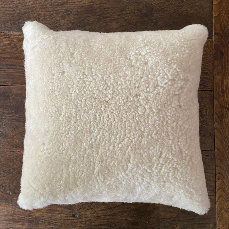 Sheepskin Cushion - Cream