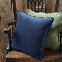Velvet Cushion - Royal Blue