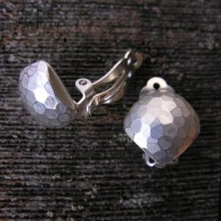 Clare de la Torre Silver clip on earrings Tinsmiths