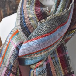 Wallace and Sewell Silk and Linen Scarf - Dunwich