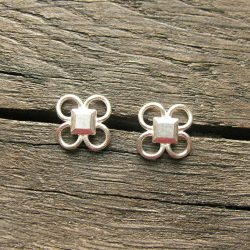 Clare de la Torre Silver Quatrefoil earrings Tinsmiths