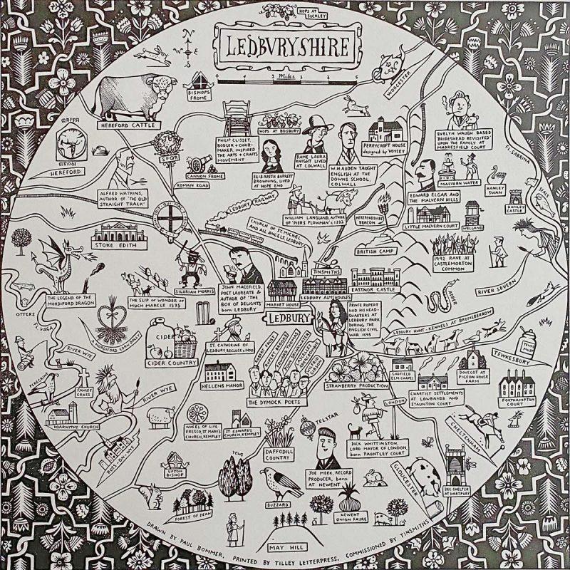 Ledbury Map Paul Bommer