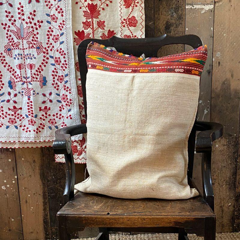 Ukrainian Linen Bolster Cover URC1 Tinsmiths