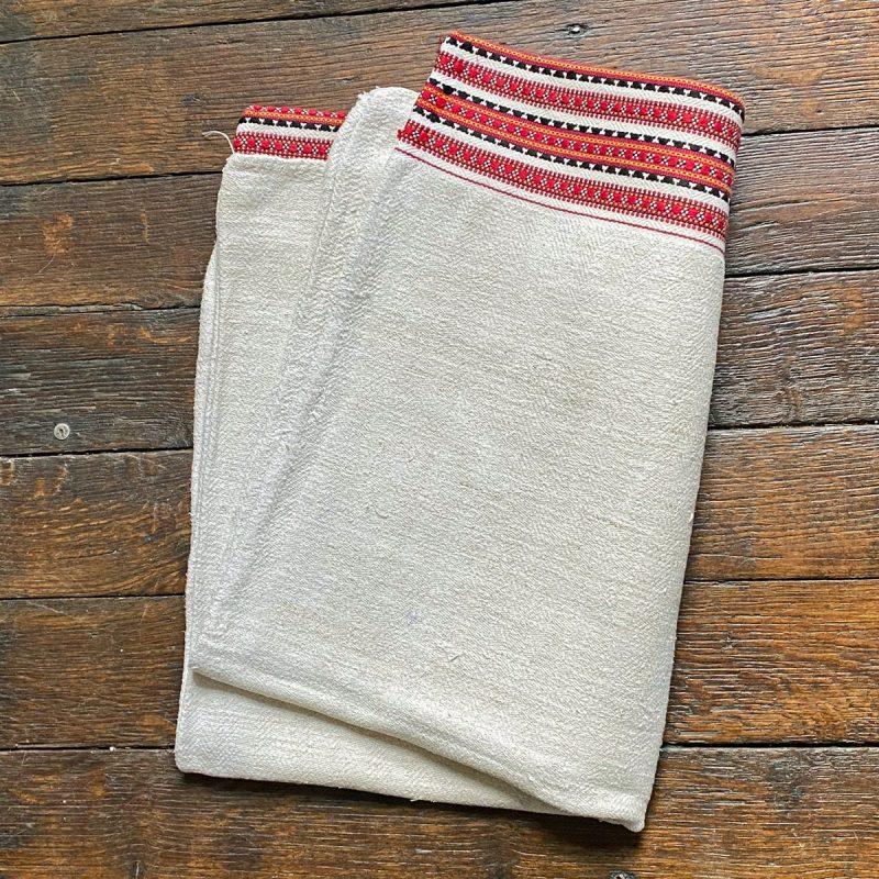 Ukrainian Linen Bolster Cover URC3 Tinsmiths
