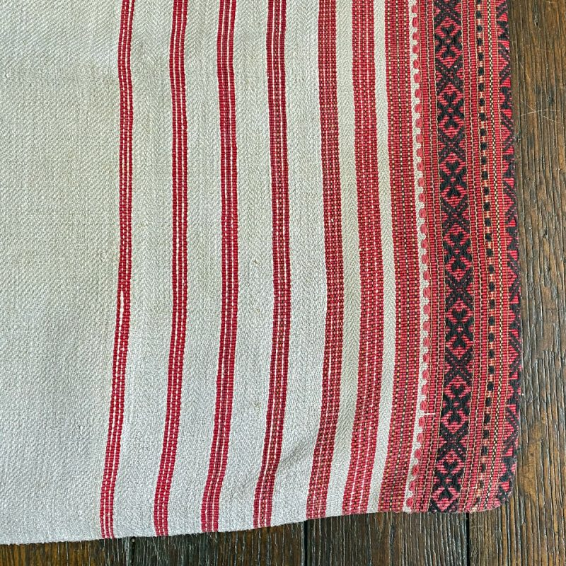 Ukrainian Linen Bolster Cover URC7 Tinsmiths