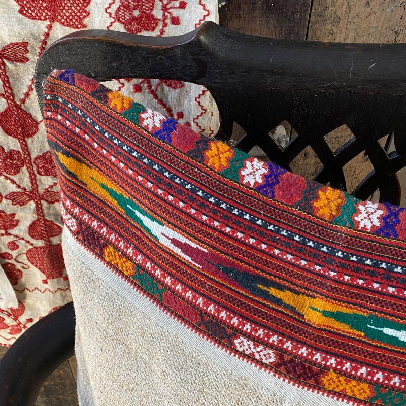 Ukrainian Linen Bolster Cover URC9 Tinsmiths