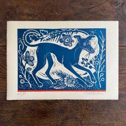 Longdog print by Mark Hearld Tinsmiths
