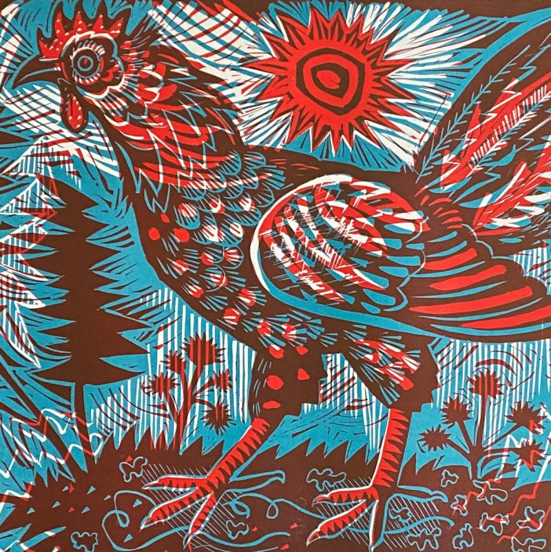 Cockerel Bantam Mark Hearld Print Tinsmiths