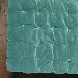 Velvet Quilted Bedcover - Teal