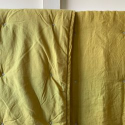Linen Quilted Bedcover - Mustard