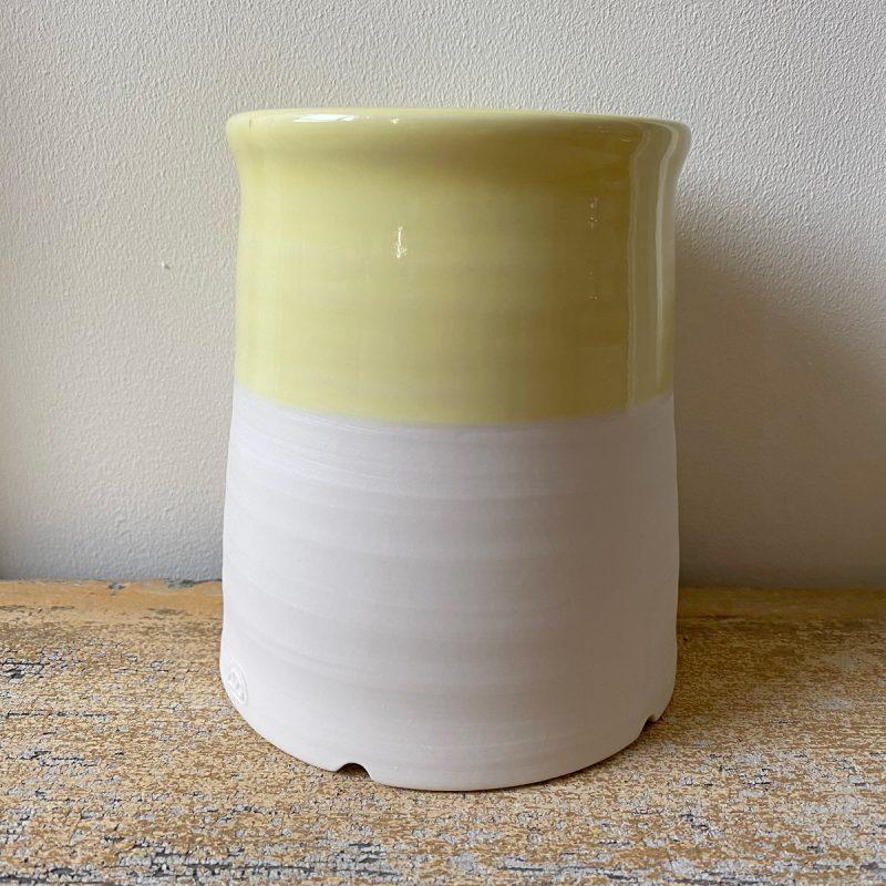 Half-Glazed Porcelain Utensil Drainer Plain
